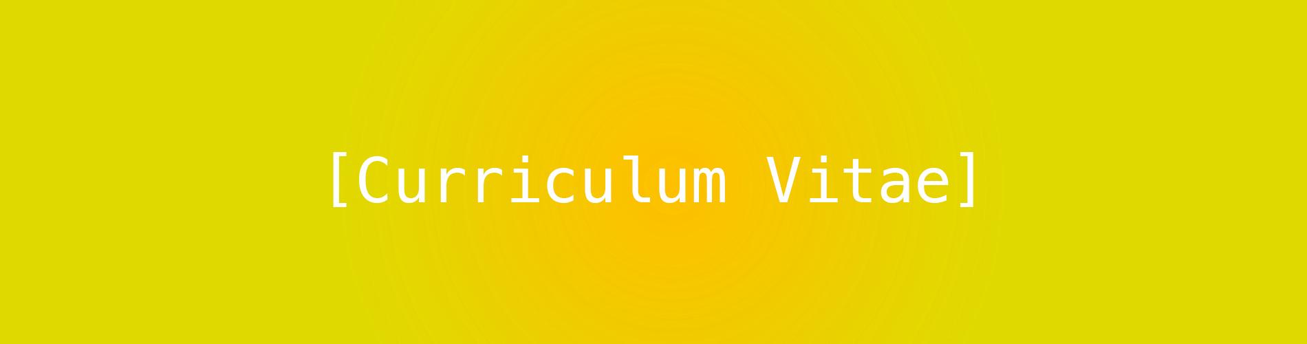 My Curriculum Vitae feature image